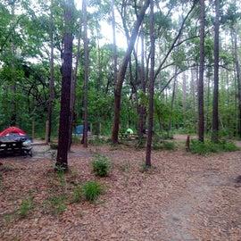 Individual tent sites