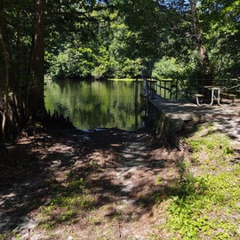 the ramp near the primitive campground