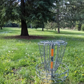 2 disc golf stations in F loop