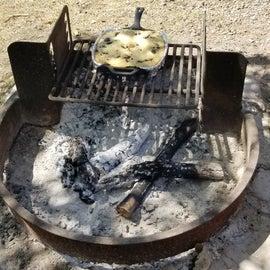 Dessert on the campfire