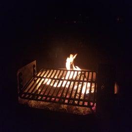 Late night campfire