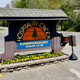 Hospitality Creek Campground entrance