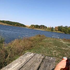 Picnic spot along the lake