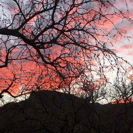 Sunset at Kartchner Caverns Campground