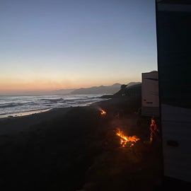 fire and sunset