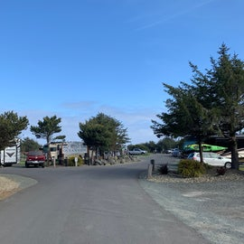 entrance to camp area