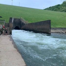 spillway from dam