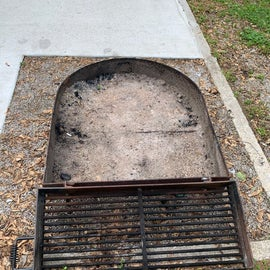 fire pit with grate