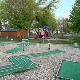mini golf and playground