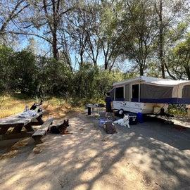 Pop up camper set up in 66