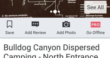 Bulldog Canyon Dispersed Camping - North Entrance