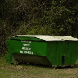 This is the dumpster for the campground.