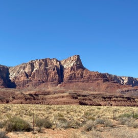 Magnificent Vermillion Cliffs on the way into Lee's Ferry