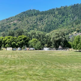 view of the RV park from the opposite side of the park