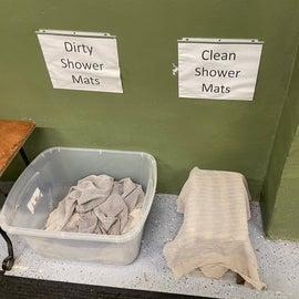 fresh mats for shower!