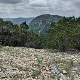 view of Old Baldy from another hill