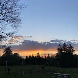 sunset at the playground