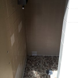 Showers in ladies room