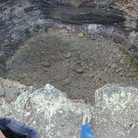 75 foot deep crater