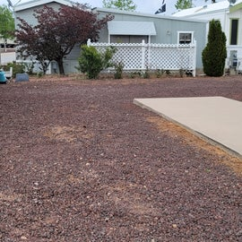 Parking space for RV site. Parking is next to your RV.