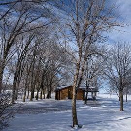 Burbach Cabins in the winter