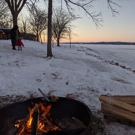 campfire in the cold