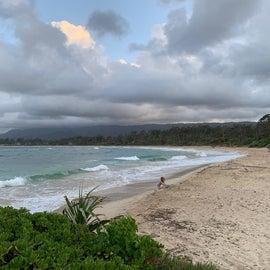 Malaekahana Beach, campsites directly behind this area