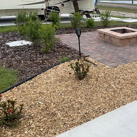 our site with firepit