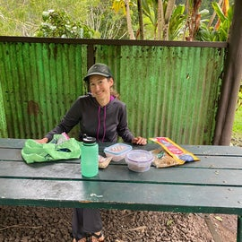 Using the picnic table/shelter area on another day trip we took up there