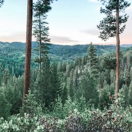 Views from trails behind campground