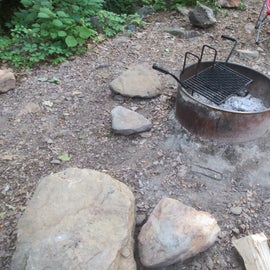 tripping hazards near the fire pit