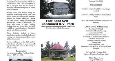 Fort Kent RV& Tenting Park at Riverside Park