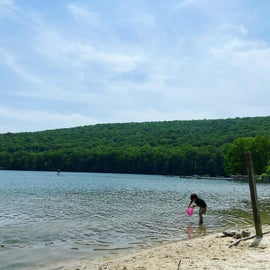 Lake swimming area
