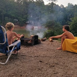 Got to roast marshmallows after a day on the lake. Site #10