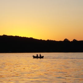 Sunset on Lake Hartwell.