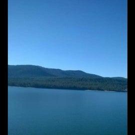 Crystal clear huge amazing lake