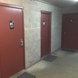 restrooms and showers- all code locked