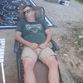 Camping is hard work