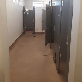 Inside a Comfort Station...showers are at the end