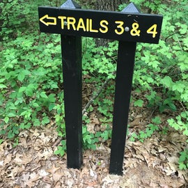 well-marked trails
