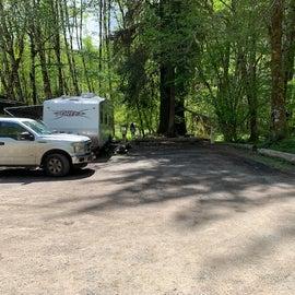 Width of Open Camp Site