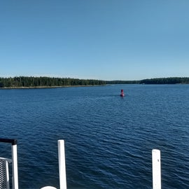 View of warn island from the ferry