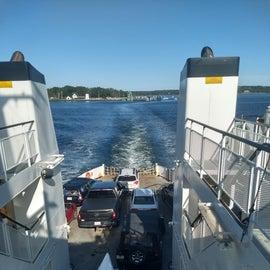 Ferry leaving from Iislesboro Maine