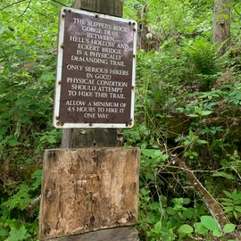 Be mindful if you plan a hike how long it will take you, these trails are harder!