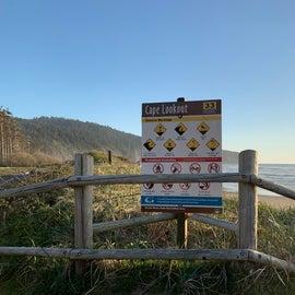 Cape Lookout beach warnings