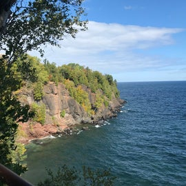 View of Blackrocks trail, close to the campground