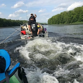 getting towed back to Milford, a little after passing minisink