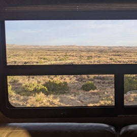 View out our dining room window.