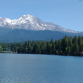 lake siskiyou, about 18 min drive from campground