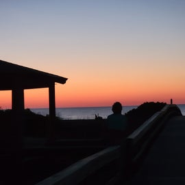 Sunrise at North Beach Tybee Island - short walk from River's End